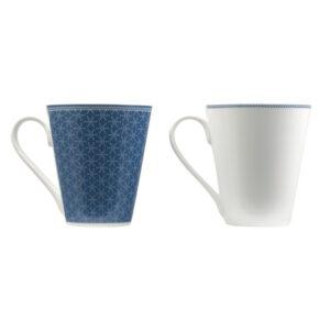 Conjunto de 4 Chávenas Infinity Chefs Essence Azul Branco Porcelana