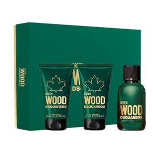 Conjunto de Perfume Homem Dsquared2 Green Wood