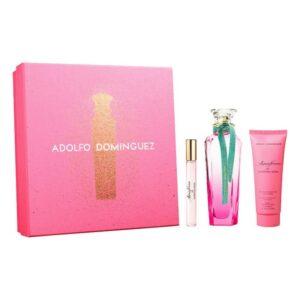 Conjunto de Perfume Mulher Agua Fresca de Gardenia Musk Adolfo Dominguez EDT (3 pcs)