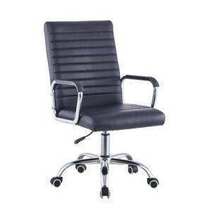 Cadeira de Escritório Preto Polipele Poliuretano (48 x 52 cm)