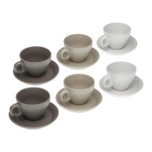 Conjunto de 6 chávenas com pires Cerâmica