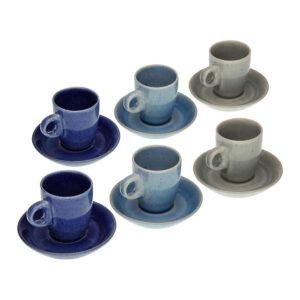 Conjunto de 6 Chávenas de Café Cerâmica