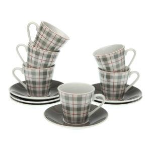 Conjunto de 6 Chávenas de Café Camy Porcelana