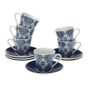 Conjunto de 6 Chávenas de Café Aveiro Porcelana