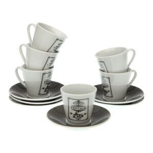 Conjunto de 6 Chávenas de Café Adele Porcelana