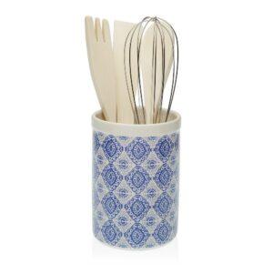 Recipiente para Utensílios de Cozinha Aveiro Azulejo Cerâmica (10 x 15 x 10 cm)