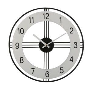 Relógio de Parede Branco Metal (40 x 40 x 4 cm)