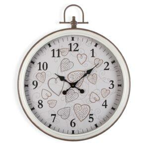 Relógio de Parede Cozy Corações Metal