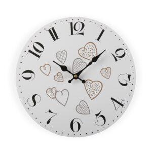 Relógio de Parede Cozy Corações Madeira (4 x 29 x 29 cm)