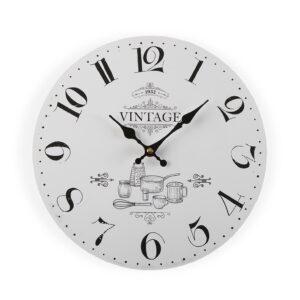 Relógio de Parede Adele Vintage Madeira (4 x 29 x 29 cm)