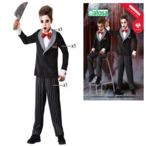 Fantasia para Crianças Halloween Boneco 5-6 Anos