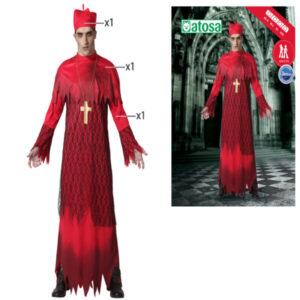 Fantasia para Adultos Halloween Cardeal Vermelho XL