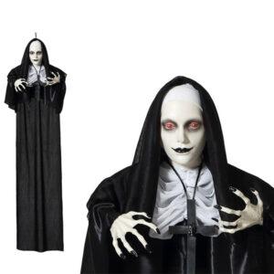 Decoração para Halloween Freira sinistra (60 X 12 x 120 cm)