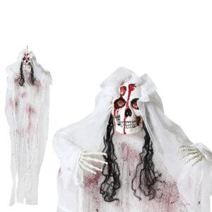 Decoração para Halloween Noiva cadáver (170 X 100 x 18 cm)