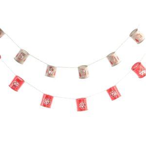 Grinalda de Luzes LED DKD Home Decor Natal (5 x 5.5 x 100 cm)