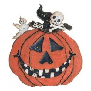 Decoração para Halloween Dekodonia Madeira Abóbora (46 x 51 cm)