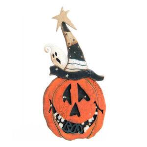 Decoração para Halloween Dekodonia Madeira Abóbora (18 x 33 cm)