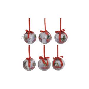7 Bolas de Natal DKD Home Decor PVC Carro  (7.5 x 7.5 x 7.5 cm)