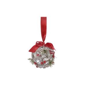 Bola de Natal DKD Home Decor Rotim (10 x 10 x 10 cm)