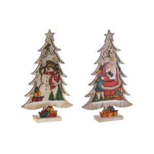 2 Adornos Natalício DKD Home Decor Árvore de Natal LED Natural