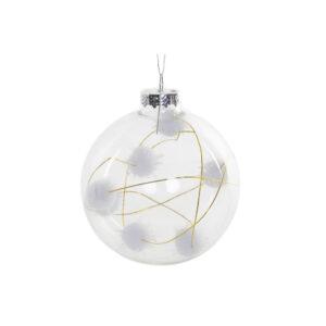 Bola de Natal DKD Home Decor Algodão Cristal (8 x 8 x 8 cm)