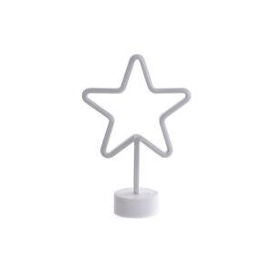 Adorno Natalício DKD Home Decor Estrela Vermelho LED