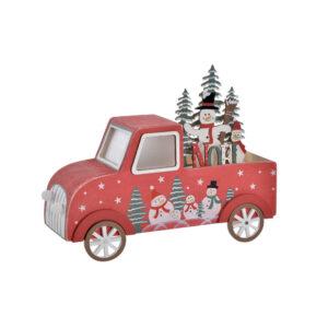 Adorno Natalício DKD Home Decor Vermelho LED Carro