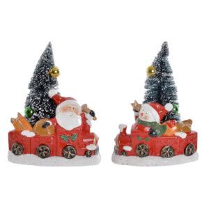 2 Figuras Decorativas DKD Home Decor Grés Pai Natal  (16 x 11 x 21 cm)