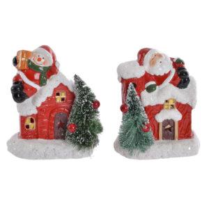 2 Figuras Decorativas DKD Home Decor Grés Pai Natal  (10 x 6.5 x 11.5 cm)