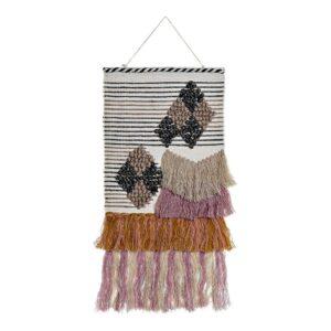 Decoração Suspensa DKD Home Decor Jute Algodão Lã (46 x 2 x 110 cm)