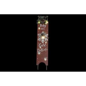 2 Adornos Natalícios DKD Home Decor Vermelho LED