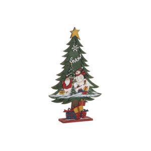 2 Árvores de Natal DKD Home Decor Madeira LED  (25 x 7 x 42 cm)