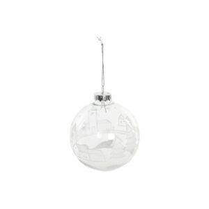 Bola de Natal DKD Home Decor Cristal (8 x 8 x 8 cm)