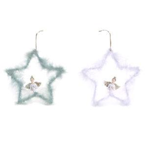 2 Estrelas de Natal DKD Home Decor  (20 x 3.5 x 19.5 cm)