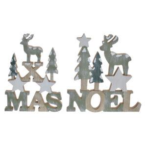 2 Figuras Decorativas DKD Home Decor Madeira MDF Estrela  (18.7 x 2.3 x 19 cm)