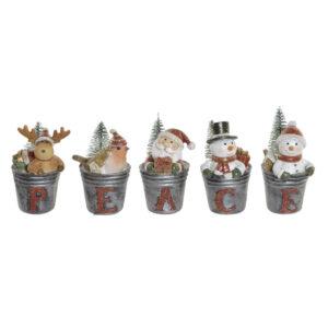 5 Figuras Decorativas DKD Home Decor Resina  (4.5 x 4 x 7.5 cm)