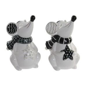 2 Figuras Decorativas DKD Home Decor Rato  (10.5 x 9.7 x 17.3 cm)
