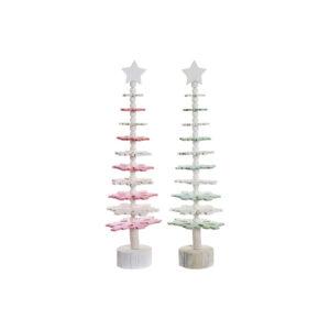 2 Árvores de Natal DKD Home Decor Madeira MDF  (14 x 14 x 51 cm)