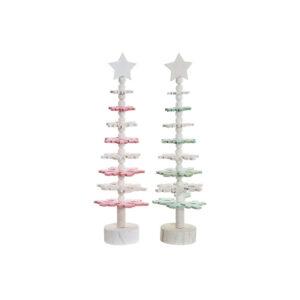2 Árvores de Natal DKD Home Decor Madeira MDF  (11 x 11 x 41 cm)