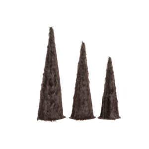 3 Peças Decoração DKD Home Decor Natal Franela  (16 x 16 x 60 cm)