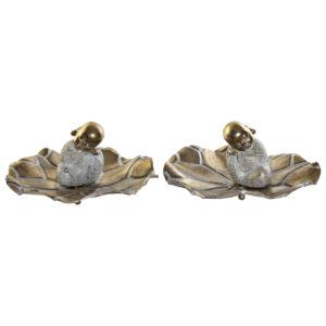 2 Figuras Decorativa DKD Home Decor Metal Resina Monge  (26 x 24.3 x 13 cm)