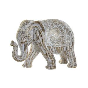 Figura Decorativa DKD Home Decor Resina Elefante (20 x 9 x 14 cm)
