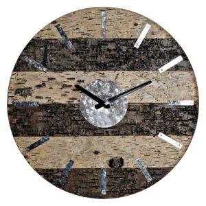 Relógio de Parede DKD Home Decor Metalizado Madeira Metal (40 x 3.6 x 40 cm)
