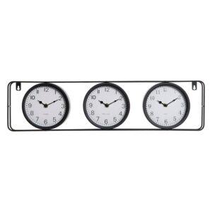 Relógio de Parede DKD Home Decor Vintage Preto Metal (62 x 4 x 16 cm)