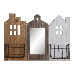 Porta-revistas DKD Home Decor Metal Madeira de paulónia (57 x 10 x 40 cm)