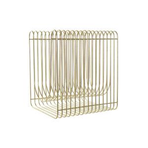 Porta-revistas DKD Home Decor Metal Dourado (35 x 30 x 40 cm)