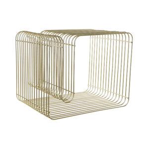 Porta-revistas DKD Home Decor Metal Dourado (50 x 40 x 39 cm)