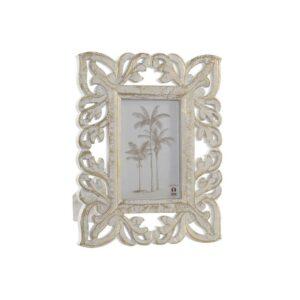 Moldura de Fotos DKD Home Decor Cristal Índio Madeira MDF (21.5 x 2 x 27 cm)