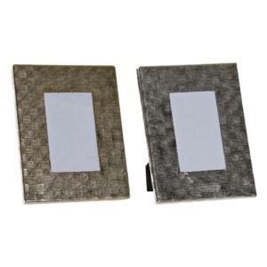 2 Molduras de Fotos DKD Home Decor Alumínio Cristal Moderno (18.5 x 2 x 24 cm)