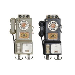 2 Bengaleiros de Parede DKD Home Decor Preto Bege Metal  (16 x 5 x 29 cm)